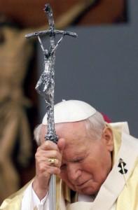 JPII i krzyż