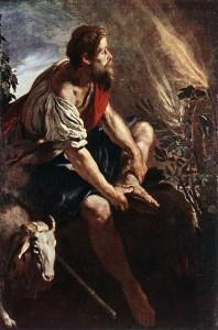 Mojżesz i krzew gorejący